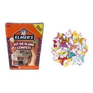 Kit Slime Novedad Elmers Confeti + 10 Charms Unicornios Caba