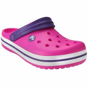 Crocs Clog Feminino Crocband Original Menina Pink Rosa