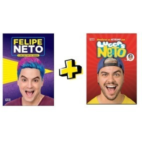 Kit Livros Felipe Neto E Luccas Neto + 15 Tazos Oficiais