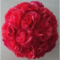 Esferas Con Flores De Papel Crepe