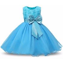 Vestido Infantil Princesa Frozen Elsa Luxo + Tiara De Brinde