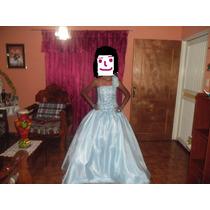 Bello Vestido De 15 Años Azul Usado 1 Vez, Lavado Y Guardado