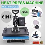 6 En 1 Negro Calor Transferencia Sublimación Máquina De La