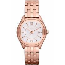 Relógio Ladies Round Rose-gold Steel Bracelet Ny8807