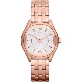 Relógio Ladies Round Rose-gold Steel Bracelet Ny8807