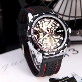 Relógio Masculino De Luxo Winner Importado De Corda Borracha