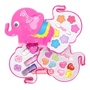 Set De Maquillaje Infantil Pinturitas Belleza Caja Elefante