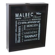 Quadro Porta Rolhas 35x8,4x40,4h Cm Malbec Laqueado Preto