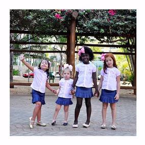 Camisa Infantil Gola Renda Listrada Botões