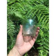 Set De 6 Vasos Reciclados Grabados Y Pulidos A Mano Kalewun