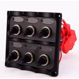 Tablero Nautico 6 Interruptores Negro