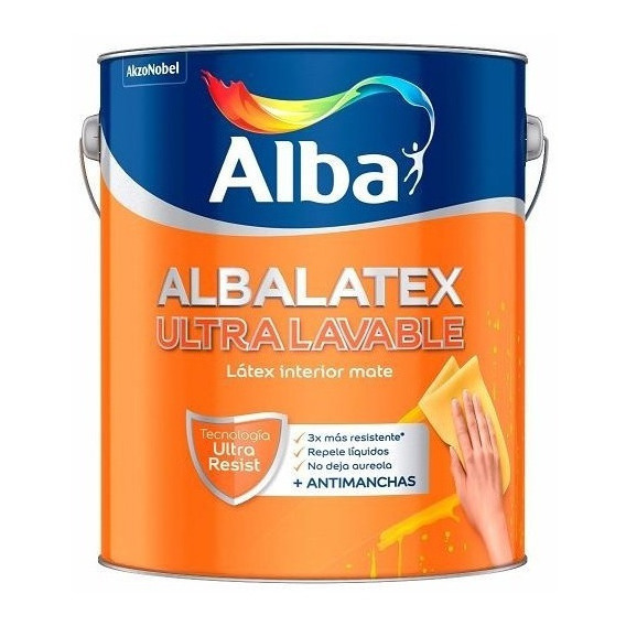 Albalatex Ultralavable Blanco Mate X 1 Lts Pintumm