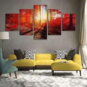 5pcs Moderna Arte Oleos Lienzo Impresión Fotos Inicio Pared