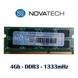 Memoria Novatech 4gb Ddr3 1333mh Sodimm Netbook Gobierno