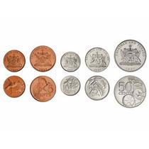Trinidad Y Tobago Set De 5 Monedas Sin Circular