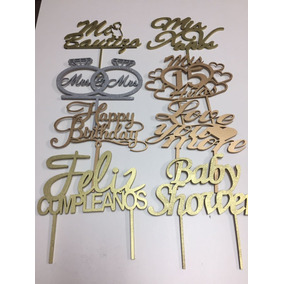 Cake Toppers Mdf 3mm Personalizados