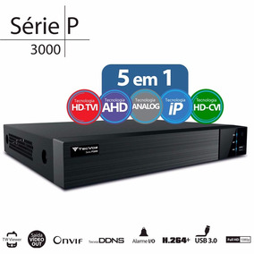 Dvr Stand Alone Tecvoz Tw P3016 16 Ch 1080p Flex 5 Em 1