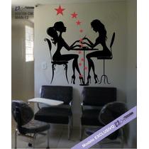 Adesivo Parede Manicure Salão Beleza Cabeleireiro Oferta Já!