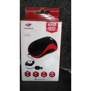 Mouse Ótico Ms-10rd C3tech Preto Com Vermelho. Novo