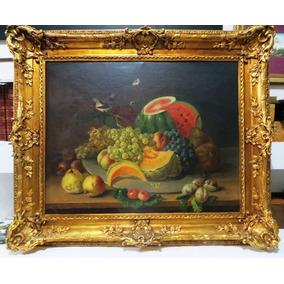 Mattony. Frutas , Flores E Pássaro , O.s.t.. Mede 55 X 69 Cm