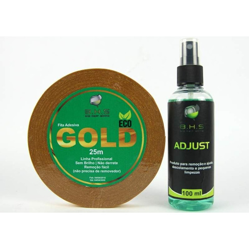 Kit Fita Gold Eco 25 Mts + Removedo (1,5 Cm )prótese Capilar