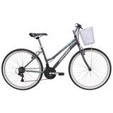 Bicicleta Oxford Aro 26 Onix Mujer 18v Grafito Verde