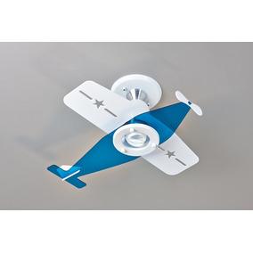 Lustre Infantil Avião Bav004 - Quarto Bebê E Criança