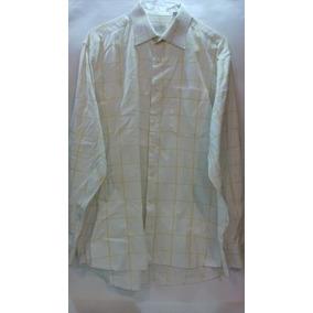 Camisa Cuadros Amarilla Marca Zignone Platinum Talla 17 1/2