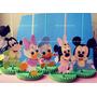 Enfeite Centro Mesa Disney Baby Mickey Bebe Minne 5 Unid