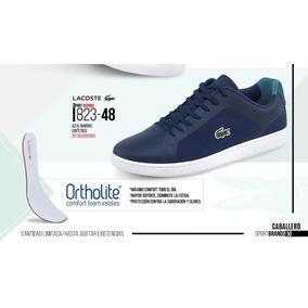 Tenis P/hombre Lacoste Azul Marino Ortholite 823-48