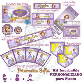 Imprimibles Fiesta Princesa Sofia Mesa De Dulces Personaliz