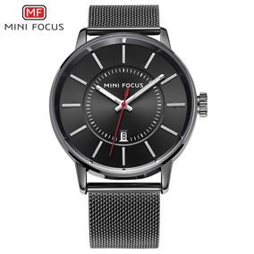 Reloj Hombre Minifocus 0034g Correa De Metal Negro/3gmarket
