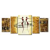 Quadro Decorativo Ballet Africano M 5 Peças - 1,65 X 0,70