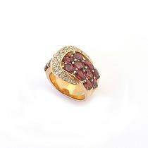 Anel Em Ouro Amarelo 18k, Turmalina Rosa (6,0cts) E Diamante