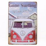 Adorno De Aluminio Vintage Combi Bocho Vw Surf Retro