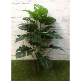 Planta Chão Folhagem Artificiais Folha Verde 68cm Semvaso 01