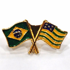 Pim Bótom Broche Bandeira Brasil X Goiás Frete Grátis