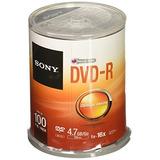 Sony Dvd-r 16x Grabable Dvd 4.7 Gb - 100 Eje De Disco (disc