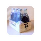 Colección. 6 Botellas. Coca-cola. 80 Años. Retro. Vintage.