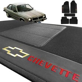 Jogo De Tapete Automotivo Em Carpete Preto Chevette 75/95