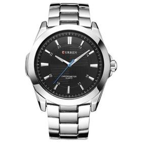 Relógio Importado Masculino Curren - Frete Grátis - Prata