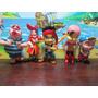 Jack Y Los Piratas Del Pais De Nunca Mas X 5 Mini Estatuilla