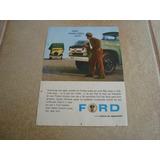Propaganda Antiga Caminhão Ford F-600 1960 F-100 F-350 V8 1