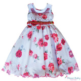 Lindo Vestido Infantil Vermelho Florista Dama Casamento