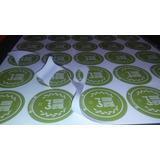 500 Etiquetas Autoadhesivas Vinilo Pvc Troqueladas 4x4 Cm.