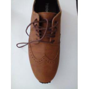 Zapatos 7502 Bostoneanos Oxford Tipo Tenis Camel Terra