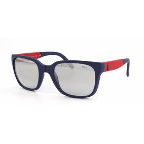 Lentes Polo Hombre Folding 4089 Rubber Blue Mirror Gradient