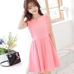 Mini Vestido Moda Asia Corea/japón Juvenil Kawaii + Regalo!