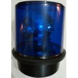 Baliza Halogena Giratoria Color Azul 220 O 12 Volts S.o.s.