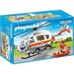 Helicoptero Medico De Emergencia Playmobil R3748